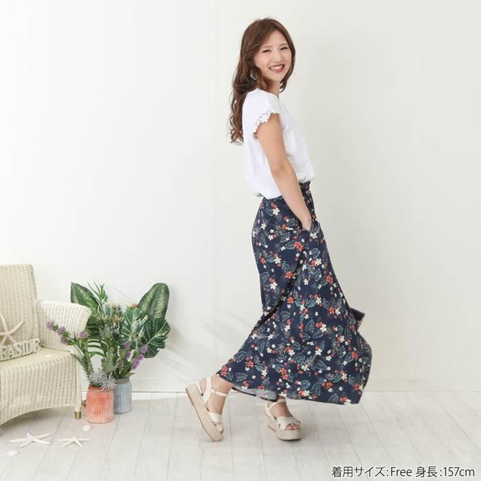 【ママ】dolcina(ドルチーナ)リゾート柄スカート(フリ−)女の子夏物キムラタン子供服あす楽