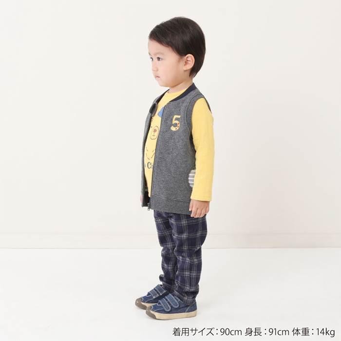 LaChiave(ラキエーベ)ニットキルトベスト(80〜130cm)男の子秋物80cm90cm95cm100cm110cm120cm130cmキムラタン子供服あす楽
