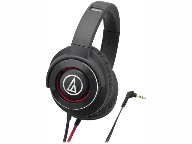 【納期約7~10日】ATH-WS770 BRD ブラックレッド [audio-technica オーディオテクニカ] ポータブルヘッドホン SOLID BASS ATHWS770BRD