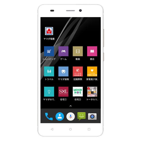 【在庫有り翌営業日発送OK F-2】 EP-172BZ/G Android搭載SIMフリースマートフォン EveryPhone BZ ゴールド EP172BZG