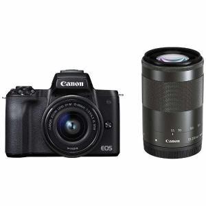 【キ対象】【納期約1~2週間】【お一人様1台限り】canon キヤノン EOSKISSM-WZKBK ミラーレス一眼カメラ EOS Kiss M ダブルズームキット (ブラック) EOSKISSM WZKBK BK