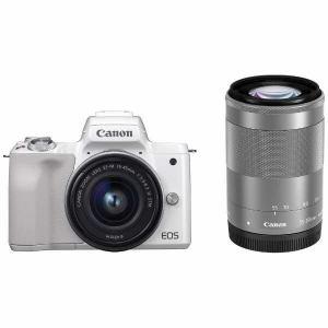 【納期約1~2週間】【キ対象】canon キヤノン EOSKISSM-WZKWH ミラーレス一眼カメラ EOS Kiss M ダブルズームキット (ホワイト) EOSKISSM WZKWH WH