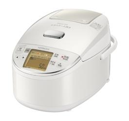 【納期約7~10日】RZ-BV100M-W HITACHI 日立 圧力スチームIHジャー炊飯器(5.5合炊き) パールホワイト 圧力スチーム炊き ふっくら御膳 RZBV100MW