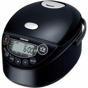【納期約7~10日】TOSHIBA 東芝 RC-6XM-K IH炊飯器 備長炭鍛造かまど釜 3.5合炊き ブラック RC6XM