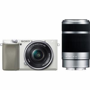 【納期約3週間】SONY ソニー ILCE-6100Y W デジタル一眼カメラ α(アルファ) ダブルズームレンズキット ホワイト