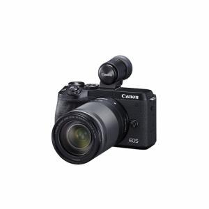 【納期約2週間】◎canon キヤノン EOSM6MK2EVF LLKBK ミラーレスカメラ EOS M6 Mark II (ブラック)・EF-M18-150 IS STM レンズEVFキット