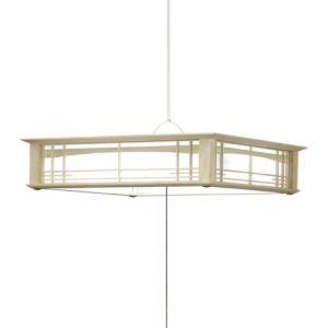 【納期約7~10日】タキズミ GVNR12904 LED和風ペンダント ~12畳用 本木枠 リモコン付き 調色 GVNR12904