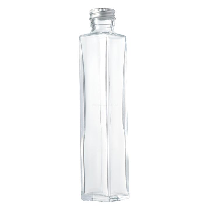 スクエア214ml 1個 ハーバリウム瓶 キャップ付き ハーバリウム 瓶 スクエア 永遠の定番 214ml キット 祝開店大放出セール開催中 1本 ガラス瓶 ボトル 硝子瓶 ディフューザー 角瓶 四角柱 おしゃれ ビン 200ml