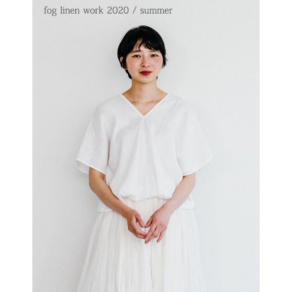 fog linen work(フォグリネンワーク)アブリル トップ ホワイト [LWA200-19]