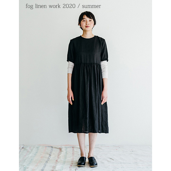 fog linen work(フォグリネンワーク)パキタ ワンピース ブラック [LWA233-17]