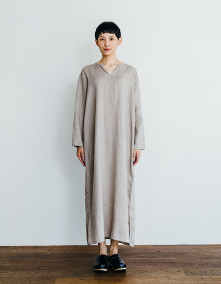 fog linen work(フォグリネンワーク) アリア ロングスリーブナイトシャツ [LHW066-N]