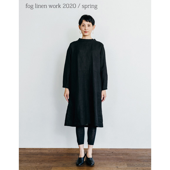 fog linen work(フォグリネンワーク) アリー ワンピース ブラック [LWA187-17]