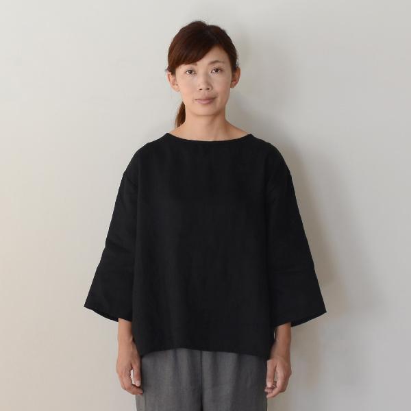 ■キナル別注■ fog linen work(フォグリネンワーク) スタンダードロングTシャツ ブラック [ZKINARU903-17]