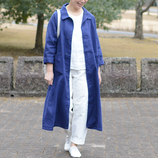 fog あっこたんと作る理想のお洋服 ブルーヴィオレ そよかぜコート あっこたん×キナル× work linen