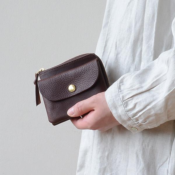 CINQ(サンク) 小さめの財布 ダークブラウン