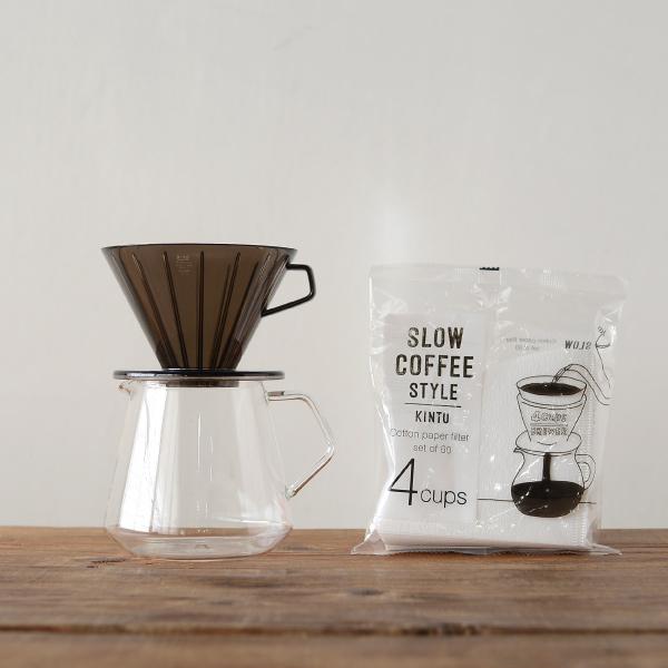 珈琲 コーヒー 定価の67%OFF コーヒードリッパー ドリッパーセット ハンドドリップ 箱入り KINTO 3-4人用 贈り物 キントー 優先配送 コーヒードリッパー3点セット ギフト
