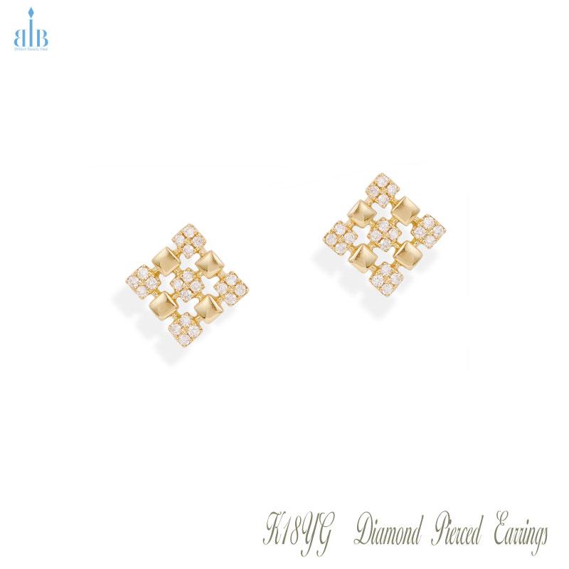 K18 YG ダイヤモンド 0.20ct ピアス イヤリング ダイヤ イエローゴールド M1810-9 BBI ジュエリー