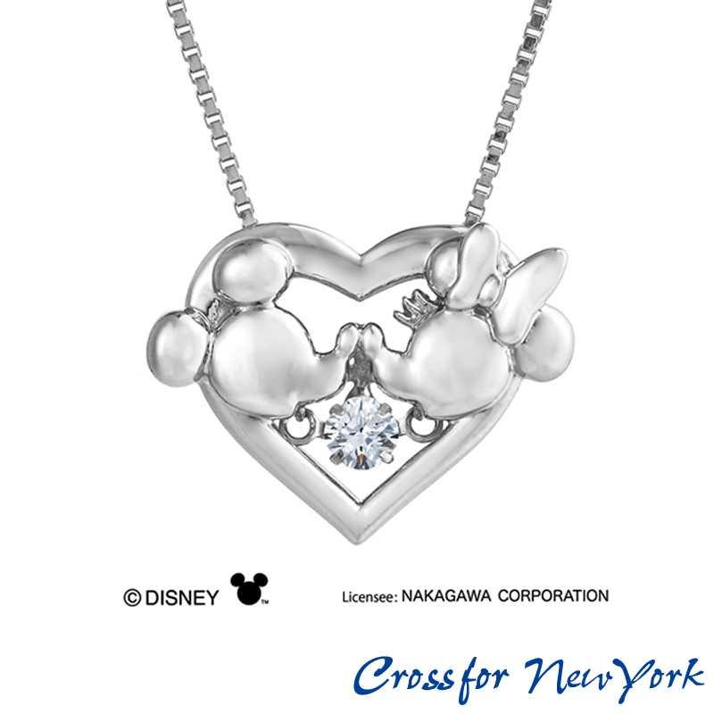 クロスフォー正規品 ネックレス Crossfor New York ディズニー Heart Kiss