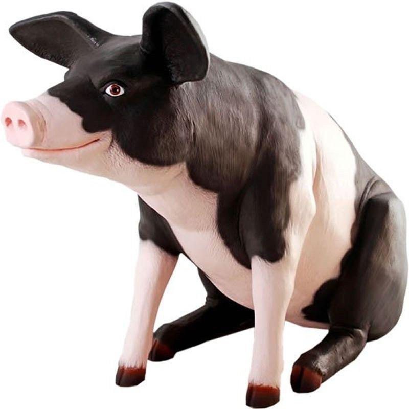 実物大 動物 オブジェ ゆかいなブタさん・ピンク&ブラック インテリア イベント ディスプレイ