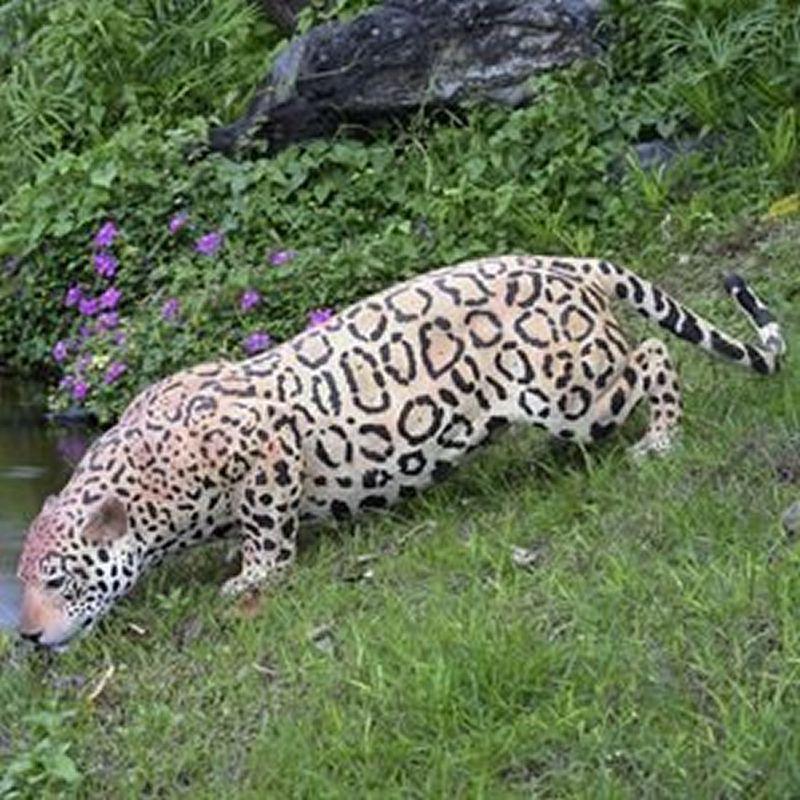 実物大 動物 オブジェ 水辺のジャガー インテリア イベント ディスプレイ