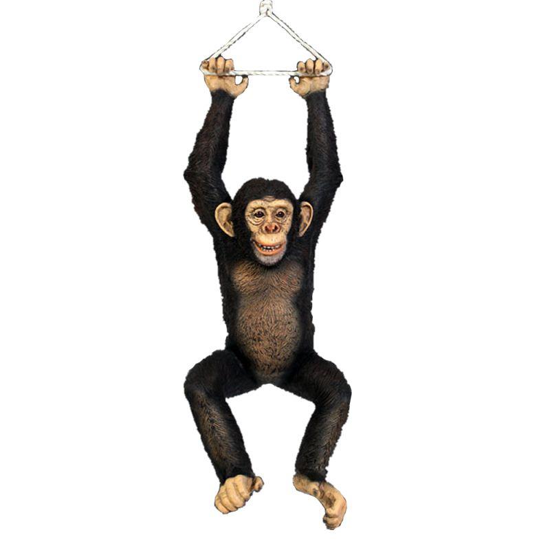 実物大 動物 オブジェ ぶら下がるチンパンジー インテリア イベント ディスプレイ