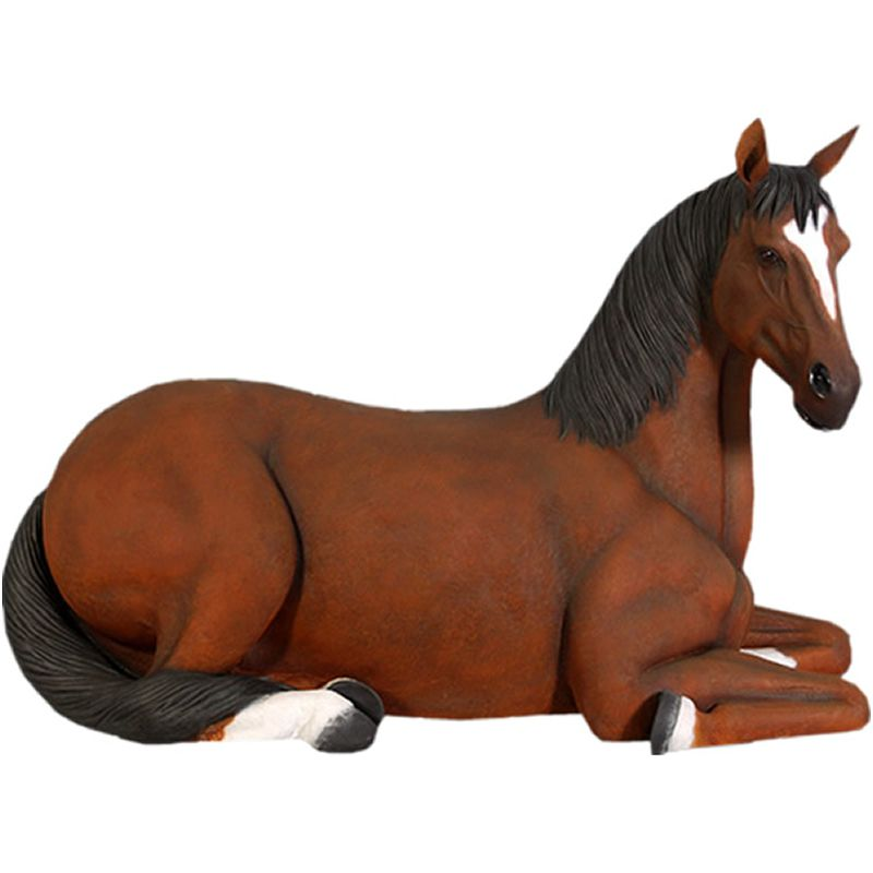 正規品! イベント 動物 座っている馬 インテリア オブジェ ディスプレイ:Gracious 実物大-その他