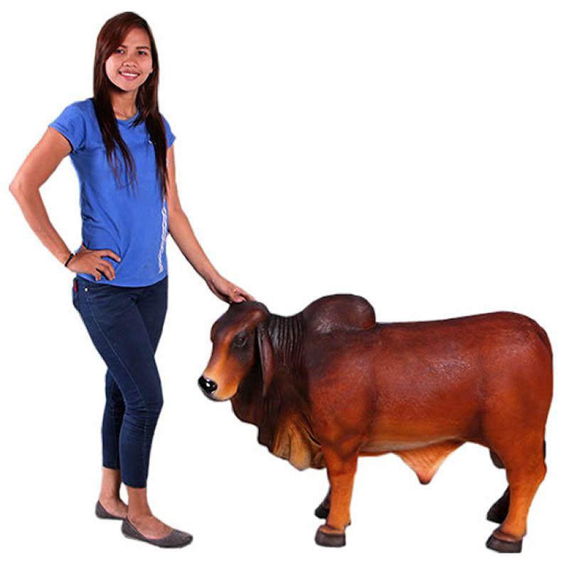 強化プラスチック FRP 大型オブジェ 送料別途見積もり 動物 オブジェ バラモン牛 在庫一掃売り切りセール ディスプレイ 小型ブラウン 公式サイト ウシ インテリア うし イベント 牛
