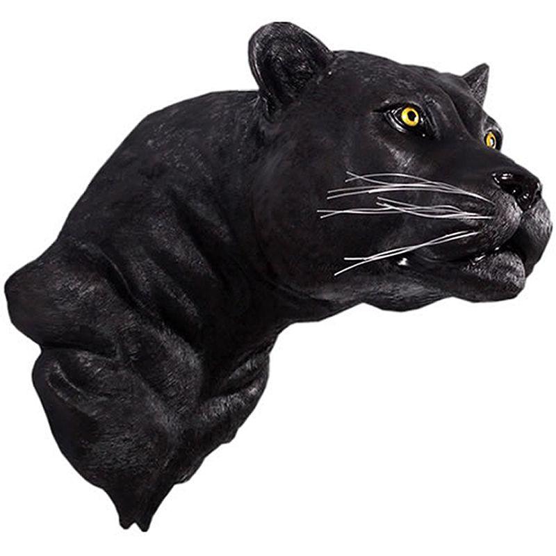 実物大 動物 オブジェ 黒豹の頭部 インテリア イベント ディスプレイ