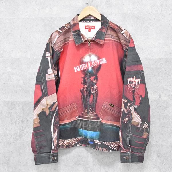 【中古】SUPREME × Scarface The World Is Yours Denim Jacket ジャケット レッド他 サイズ:L 【送料無料】 【031217】(シュプリーム)