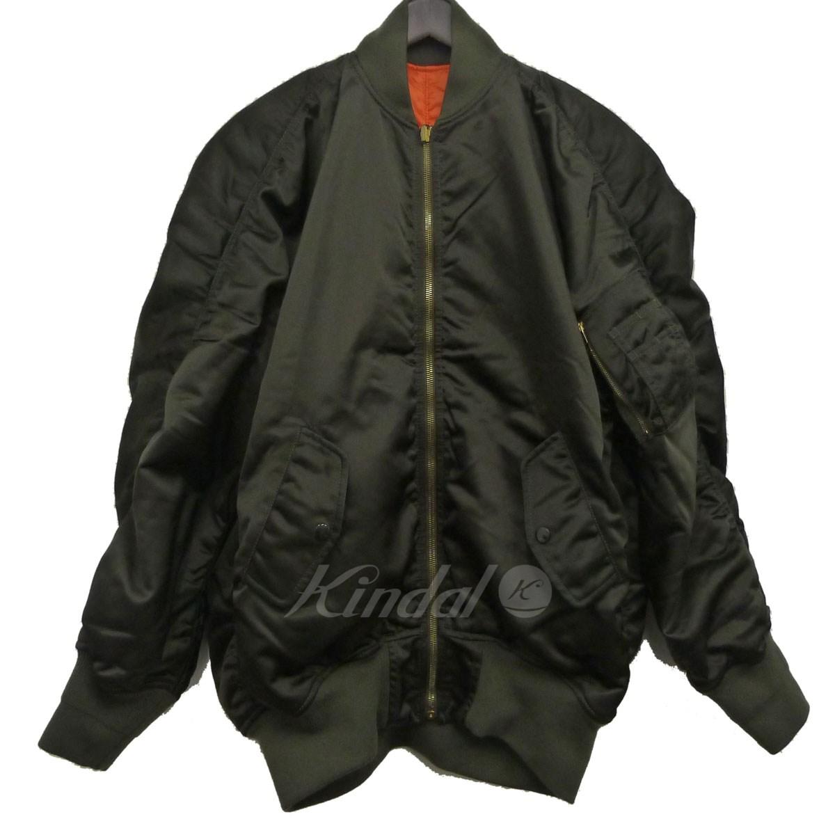 【中古】BALENCIAGA 16AW MA-1ボンバージャケット 【送料無料】 【005829】 【銅】