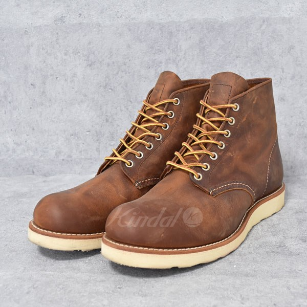 【中古】RED WING ワークブーツ CLASSIC ROUND COPPER ROUGH TOUGH 【送料無料】 【006432】 【KIND1327】