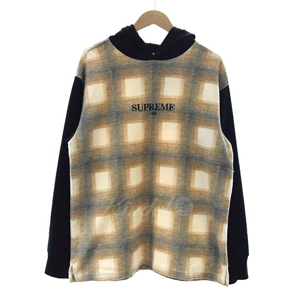 【中古】SUPREME 17AW Shadow Plaid Hooded L/S Top チェックパーカー 【送料無料】 【004119】 【GD1367】