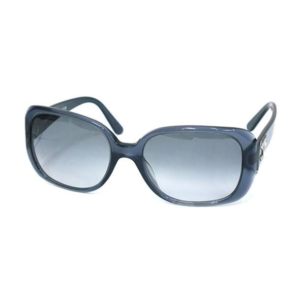 【中古】CHANEL5101 サングラス ブルー サイズ:57□18 130