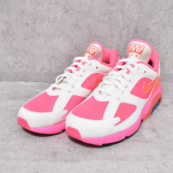 COMME des GARCONS HOMME PLUS X NIKE AIR MAX 180 CDG Air Max 180 AO4641-600  pink X white size: US9(27cm) (コムデギャルソンオムプリュス X Nike)