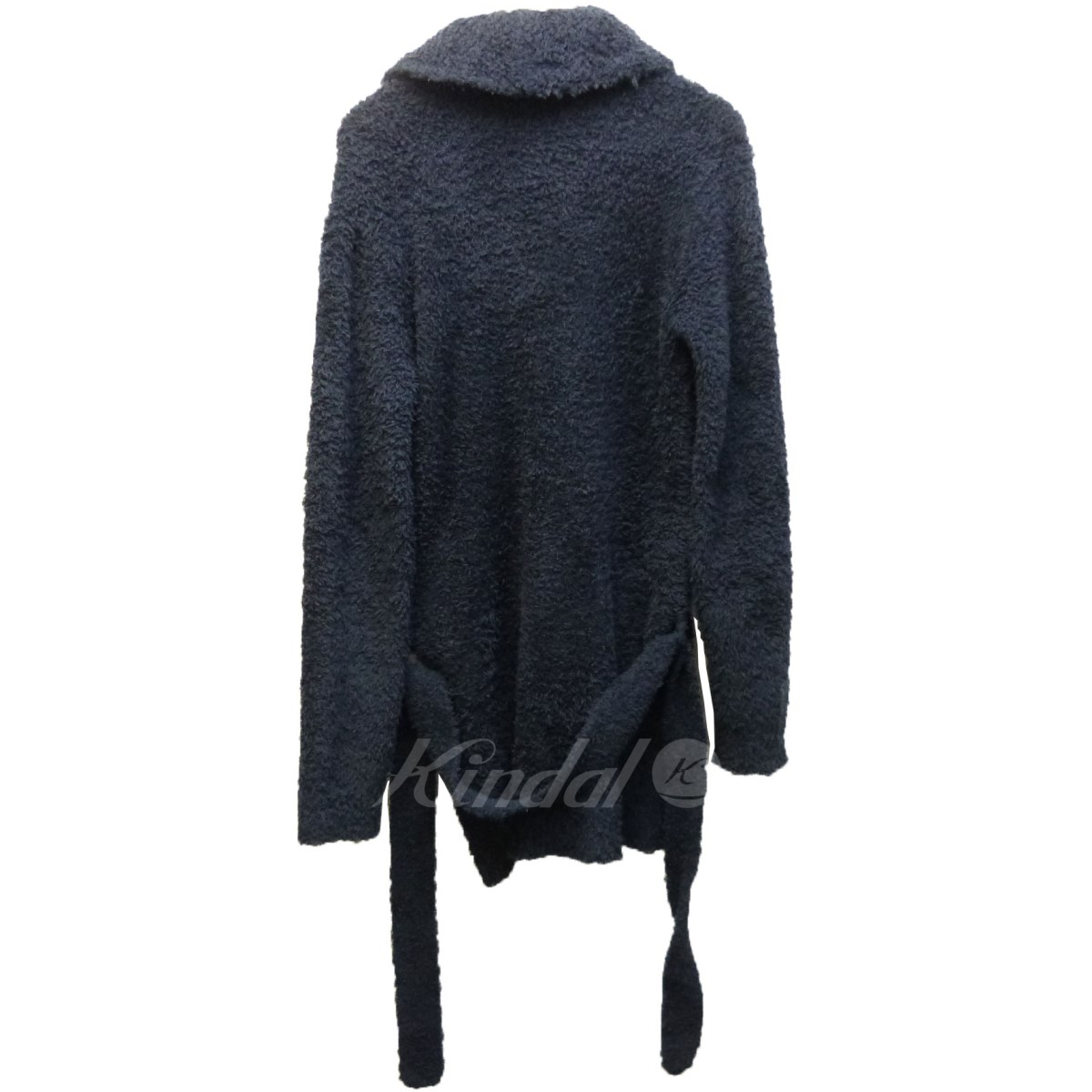 BAREFOOT DREAMS X RHC Ron Herman right sleeve logo embroidery waist cord pile cardigan navy size: S (base-up foot dreams)
