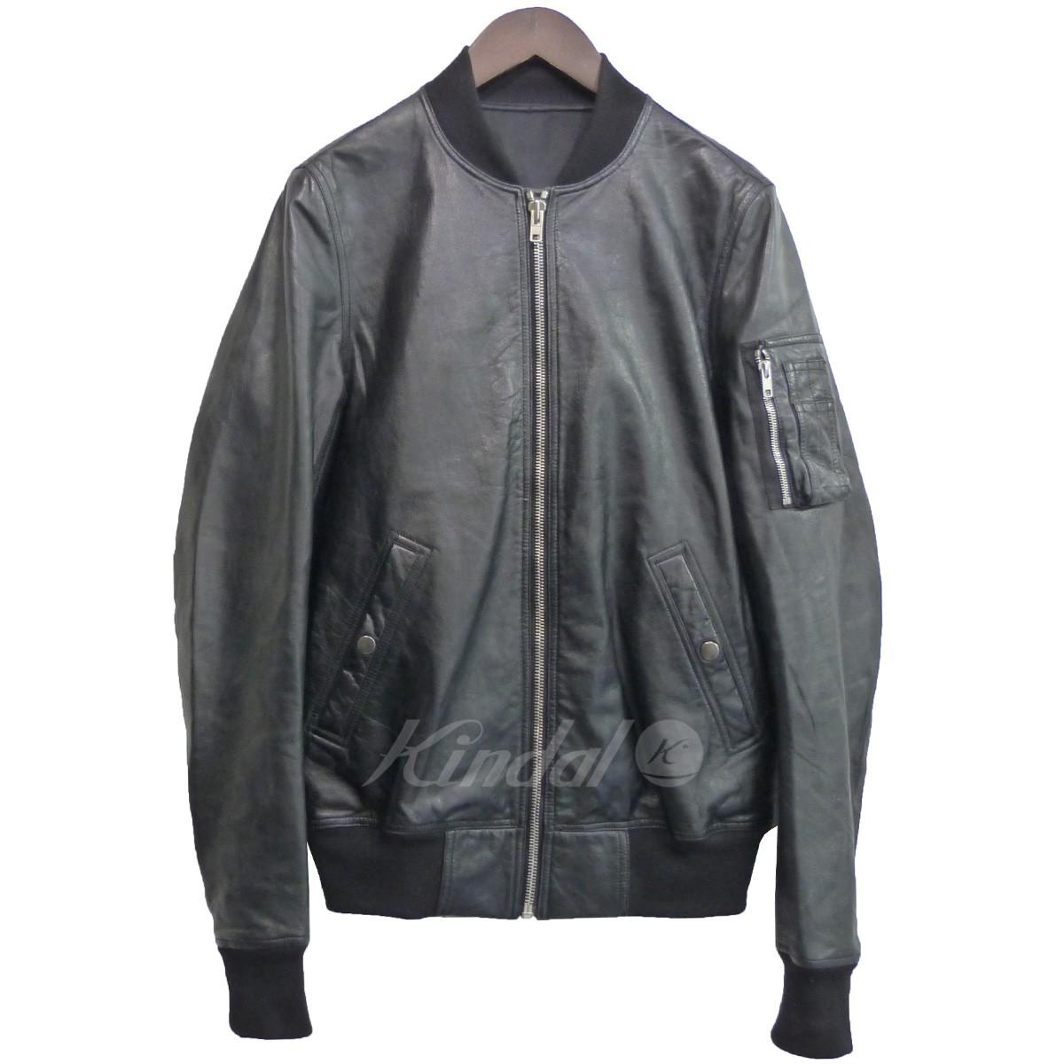 【中古】Rick Owens 14AW 「Fight Leather Bomber」オールレザーボンバージャケット 【送料無料】 【051637】 【銅】