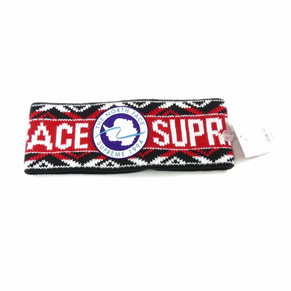 【中古】SUPREME×THE NORTH FACE 2017SS TRANSANTARCTICA HEADBAND ヘッドバンド 【000375】 【KIND1327】