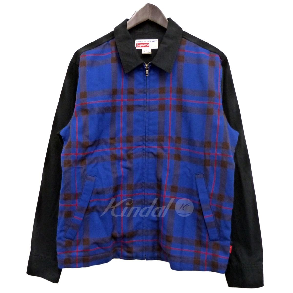 【5月31日 お値段見直しました】【中古】Supreme x Comme des Garcons SHIRT15AW「Work Jacket」ワークジャケット ブラック サイズ:S 【送料無料】