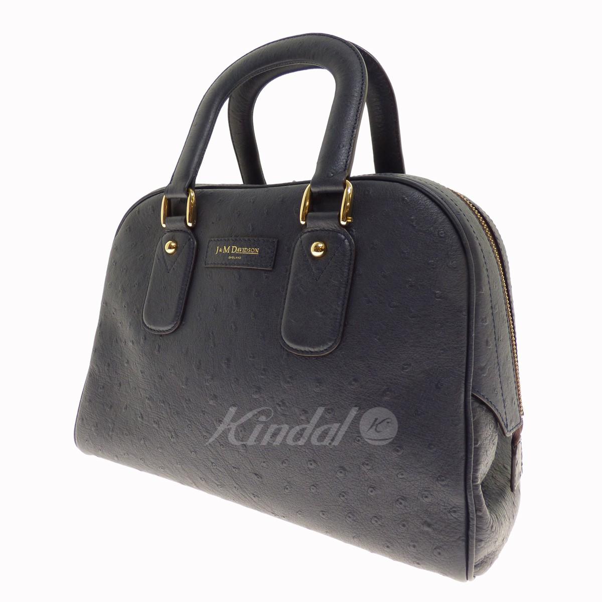 【中古】J&M Davidson オーストリッチハンドバッグ 【送料無料】 【002893】 【KIND1327】