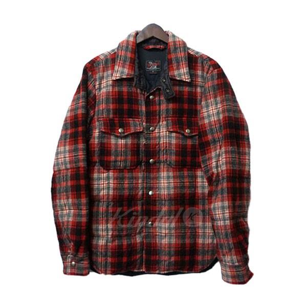 【中古】Woolrich Woolen Mills. チェックネルダウンシャツ ダウン中綿フランネルチェックシャツ 【送料無料】 【000193】 【KIND1550】