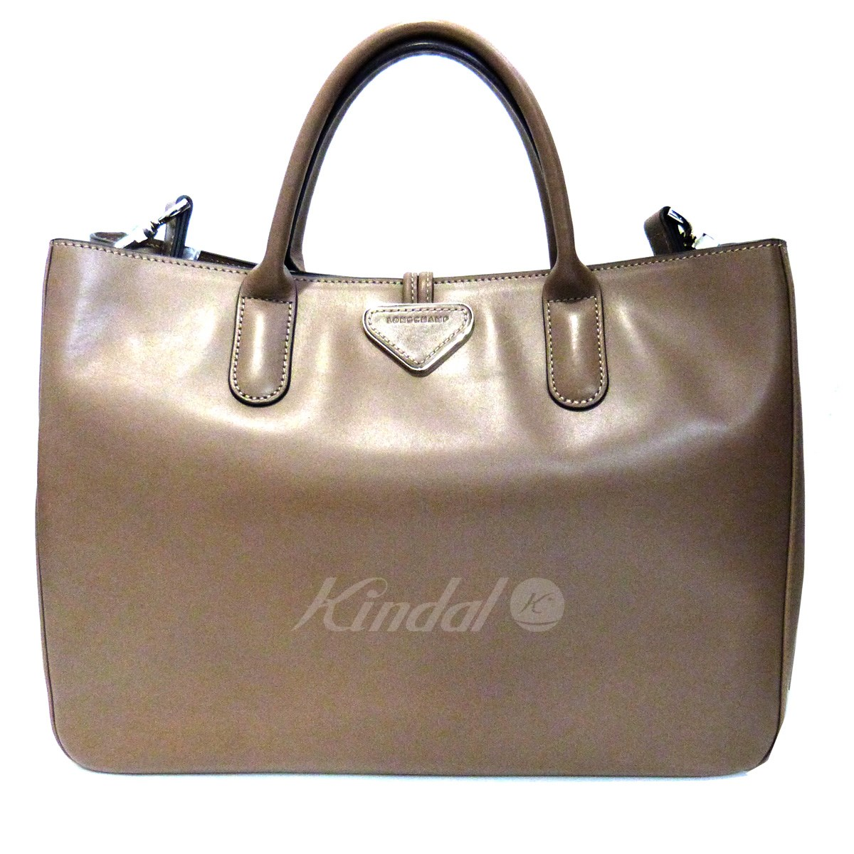 【中古】LONGCHAMP 「ROSEAU」2WAYバッグ 【送料無料】 【010223】 【KIND1327】
