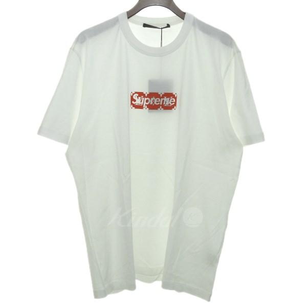 ホワイト Tシャツ 国内正規品 1A3FC4 MONOGRAM BOXLOGO ルイヴィトン×シュプリーム VUITTON×SUPREME 【新品】 M ボックスロゴ 17AW LOUIS