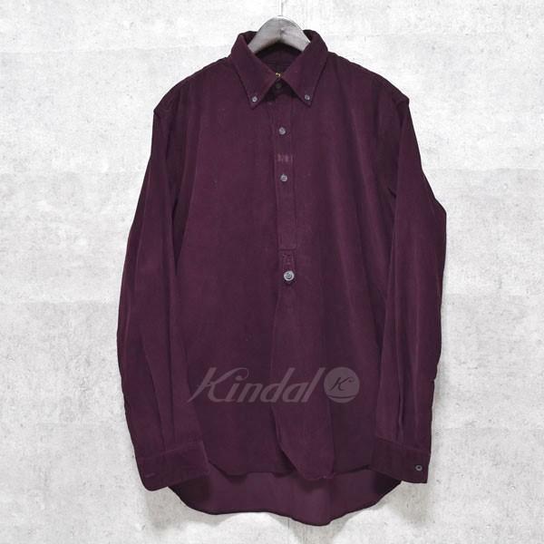 【中古】Needles 17AW BD EDW Shirt  コットンシャツ BG178 パープル サイズ:M 【送料無料】 【010318】(ニードルス)