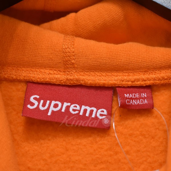 kindal supreme 18ss cord collegiate logo hooded pullover parka
