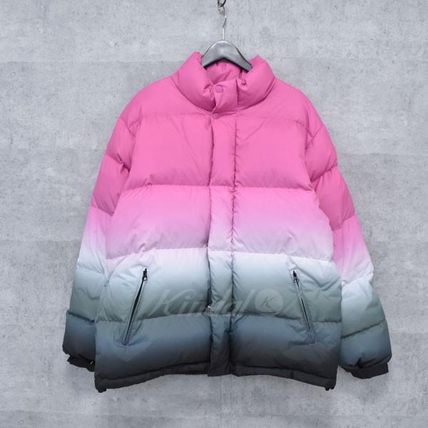 【中古】SUPREME 18SS gradient puffy jacket ダウンブルゾン ピンク他 サイズ:L 【送料無料】 【050318】(シュプリーム)