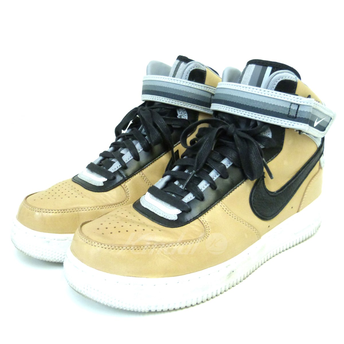【中古】NIKE×Riccardo Tisci 「AIR FORCE1 MID SP/TISCI」 レザースニーカー 【送料無料】 【045196】 【銅】