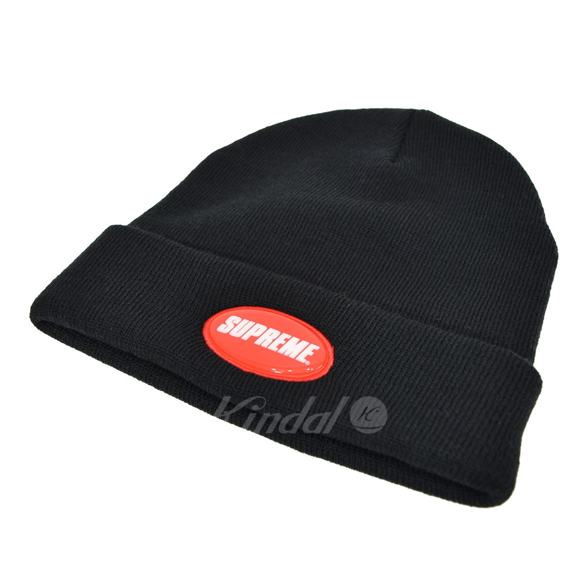 e1ee7438 SUPREME Rubber Patch Beanie rubber patch beanie 2018SS black size: -  (シュプリーム) ...