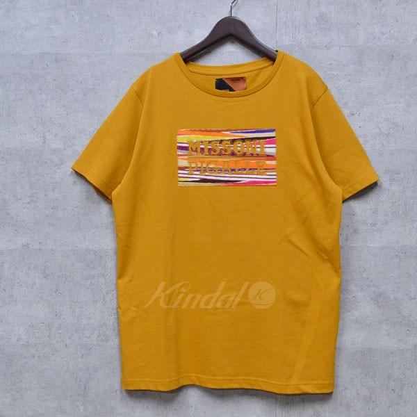 【中古】MISSONI×PIGALLE 17SS ニットロゴTシャツ マスタード サイズ:L 【送料無料】 【020418】(ミッソーニ ピガール)