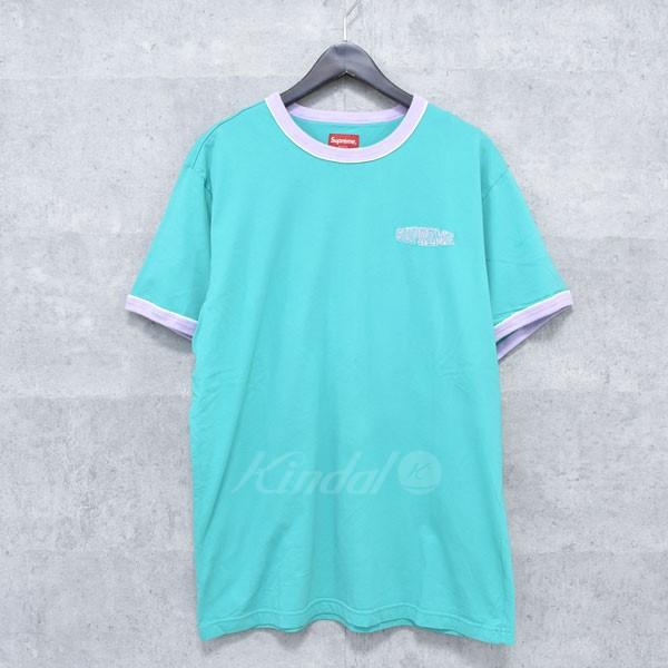 【中古】SUPREME 18SS Piping Ringer Tee パイピング リンガー Tシャツ グリーン サイズ:L 【送料無料】 【080418】(シュプリーム)