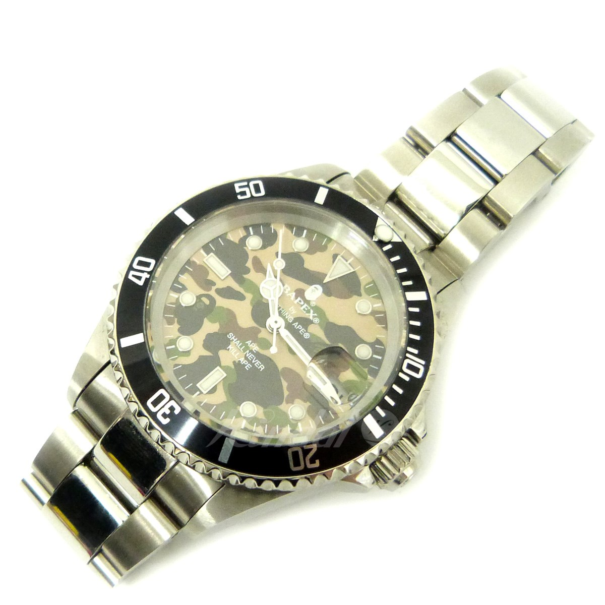 【中古】A BATHING APE 「1ST CAMO TYPE1 BAPEX」腕時計 【送料無料】 【052632】 【KIND1489】